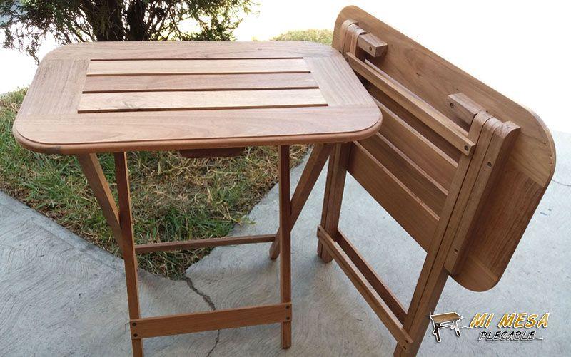 mesa de madera portátil resistente