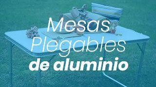 mesas de aluminio plegables