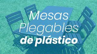mesas de plástico plegables