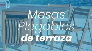 mesas plegables de terraza