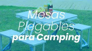 mesas plegables para camping