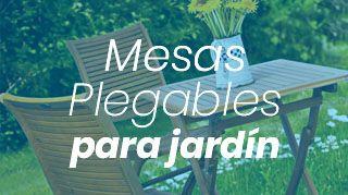 mesas plegables para jardin