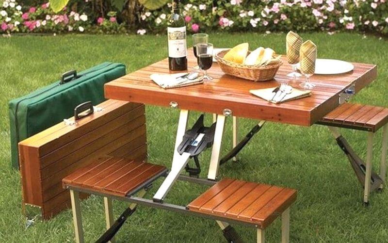 mesa plegable para camping