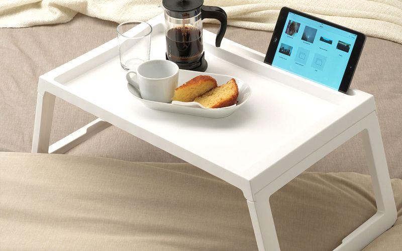 mesa de desayuno plegable para cama