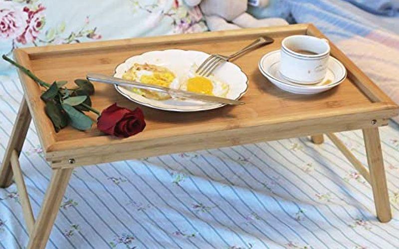 mesa de desayuno plegable